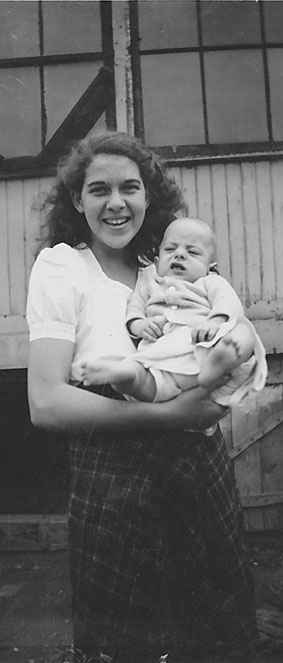 My Aunt Betty holding me as an infant.